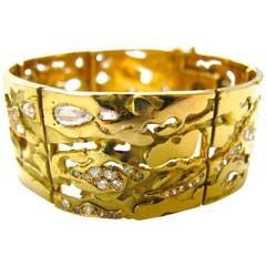 Jean Vendome Diamond Gold Bracelet