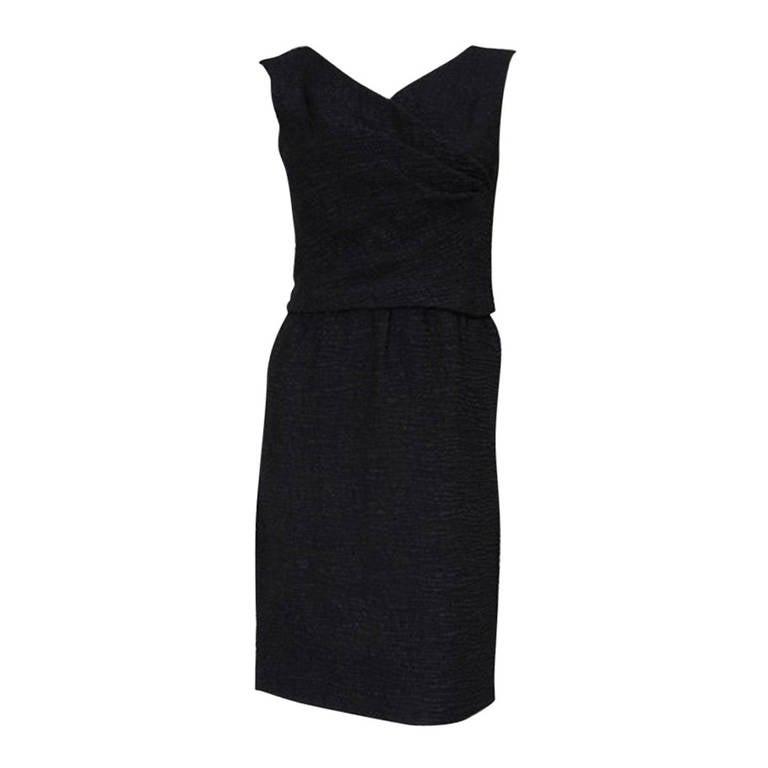 60's Christian Dior Blistered Silk Dress 1