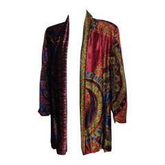 GIANNI VERSACE Velvet Printed Blazer