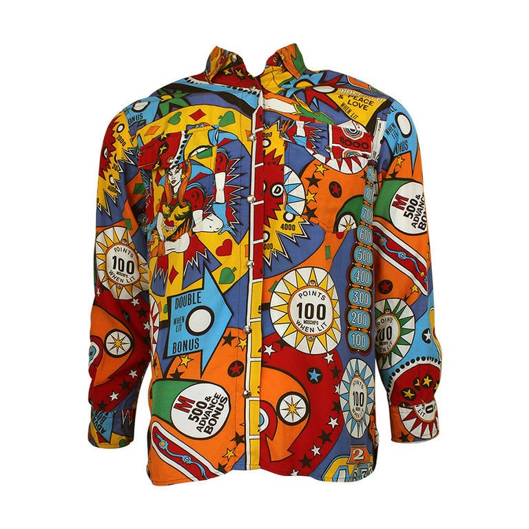 Moschino Pin Ball Western Shirt
