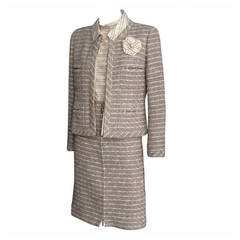 2003 CHANEL Spring Collection 3 Piece Tweed Suit