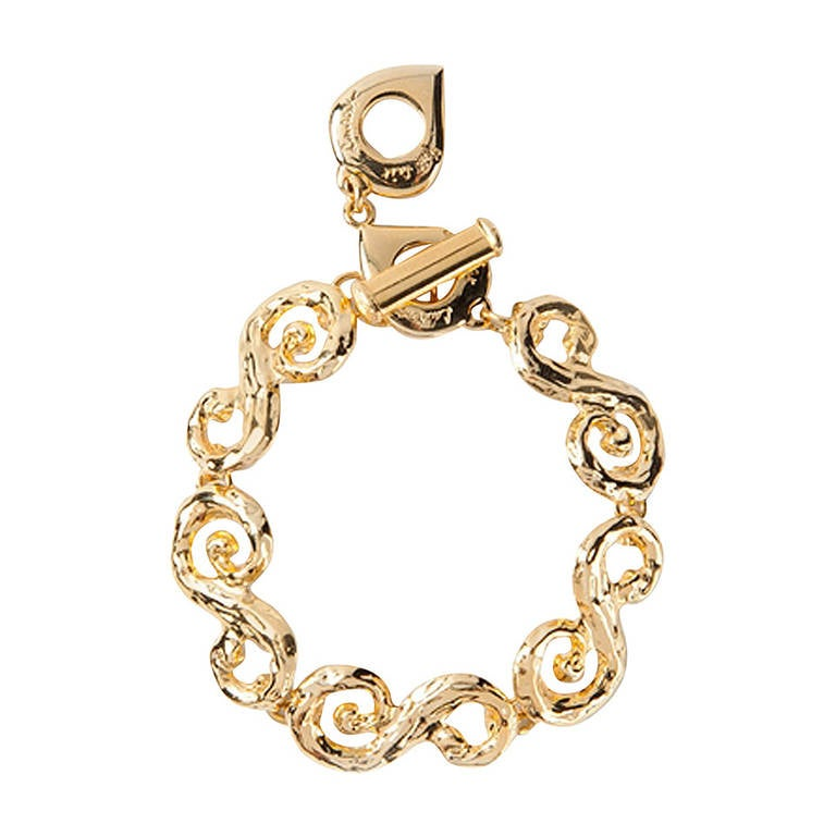 Yves saint laurent swirl chain bracelet at 1stdibs - Bracelet yves saint laurent ...