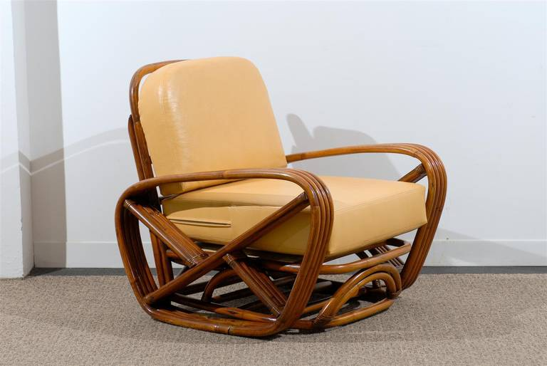 Mid-Century Modern Handsome Frankl Style Square Pretzel Lounge Chairs For Sale