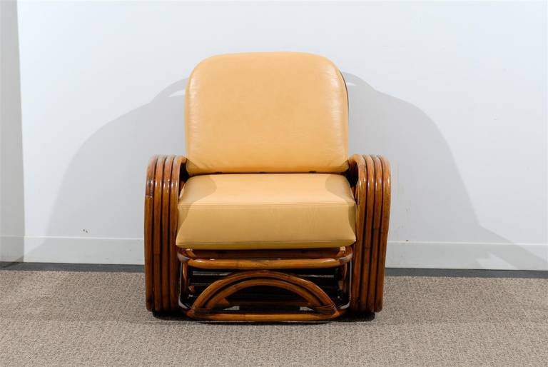 Unknown Handsome Frankl Style Square Pretzel Lounge Chairs For Sale