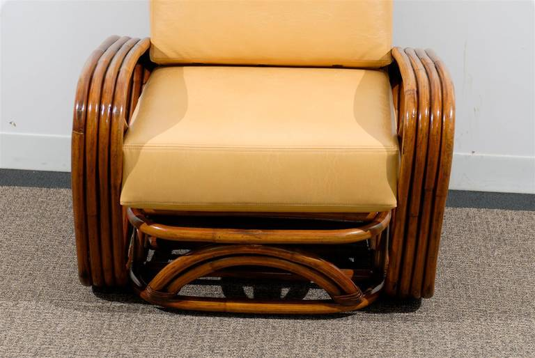 Mid-20th Century Handsome Frankl Style Square Pretzel Lounge Chairs For Sale
