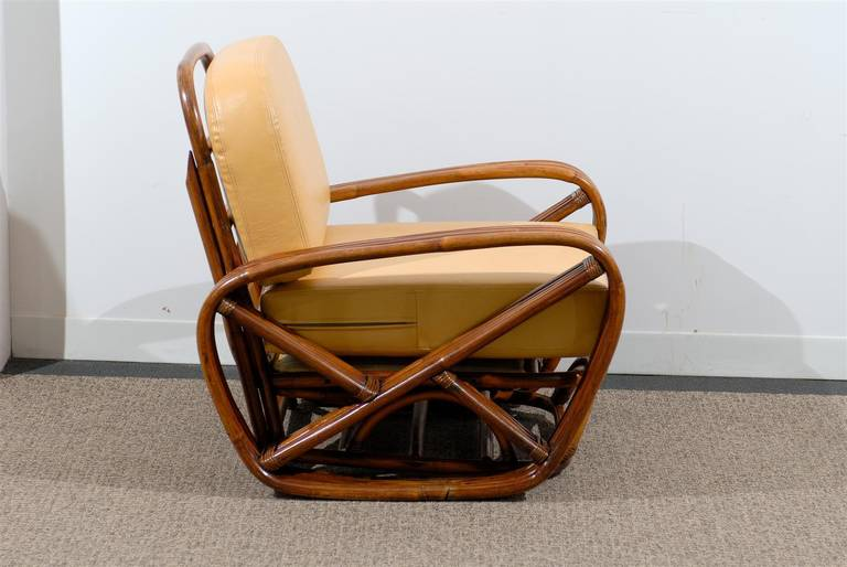 Handsome Frankl Style Square Pretzel Lounge Chairs For Sale 1
