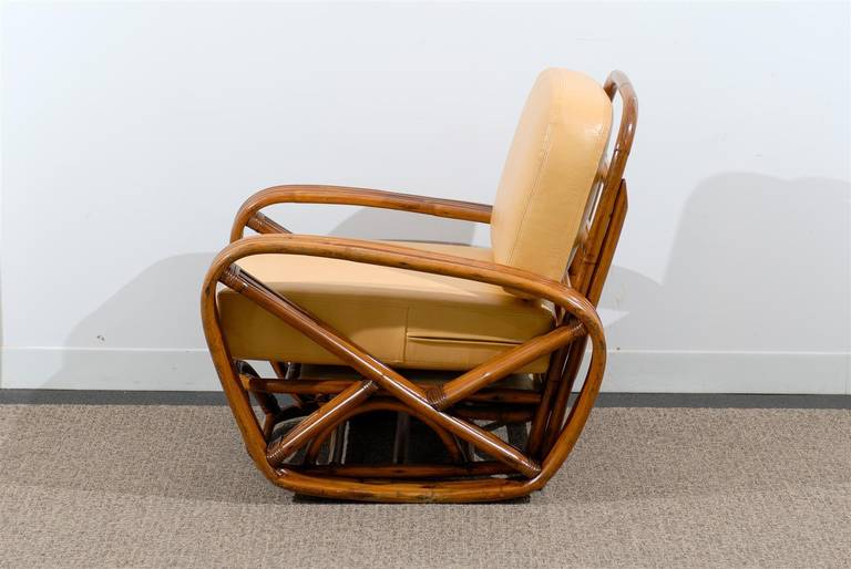 Handsome Frankl Style Square Pretzel Lounge Chairs For Sale 3