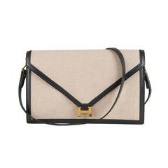 Hermes 'Sac Lydia' A Classic, Vintage Envelope Bag with the Gold 'H' Clasp