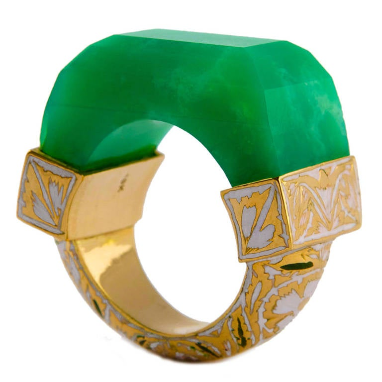 Jade Jagger NeverEnding Chrysoprase Enamel Ring 1