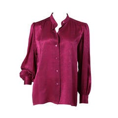 "Yves Saint Laurent ""Snake Skin"" Silk Blouse"