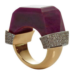 Jade Jagger Never Ending Ruby Diamond Pave Ring