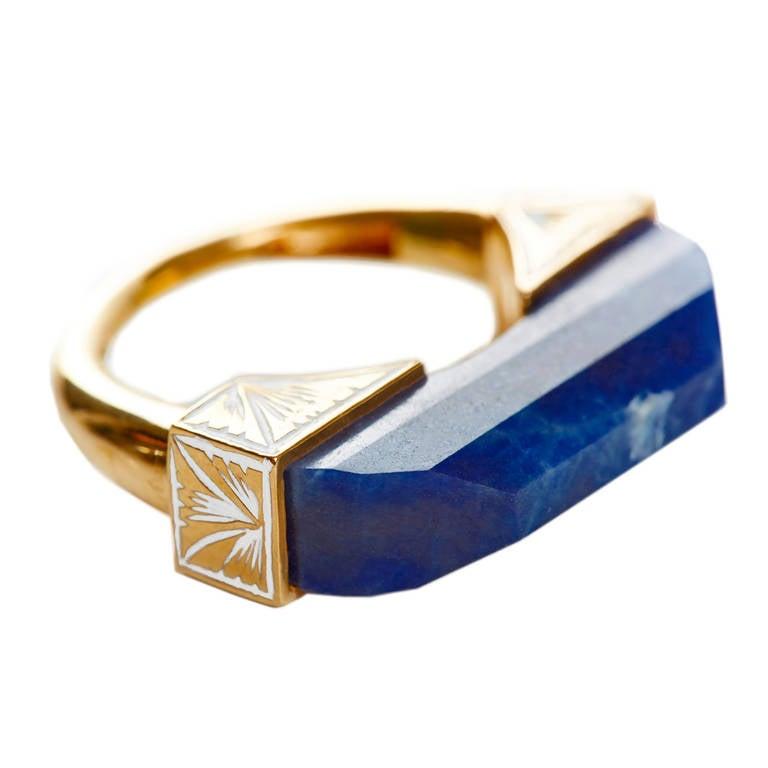 Jade Jagger NeverEnding Sapphire and Enamel Ring Pendant
