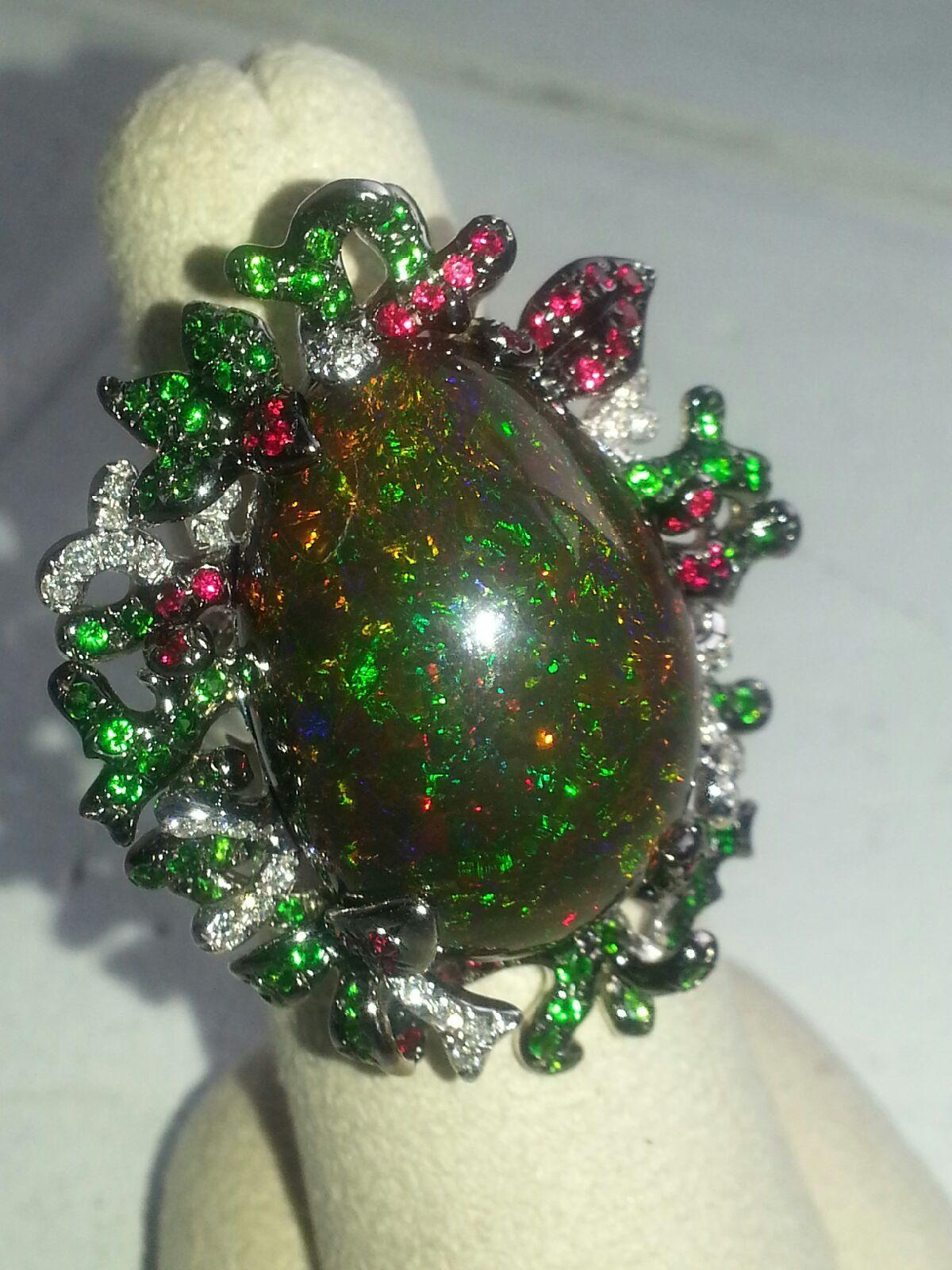 tsavorite stacking emerald il fullxfull set gold listing ring and garnet rings