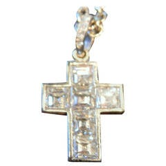 Cartier Diamond Platinum Cross