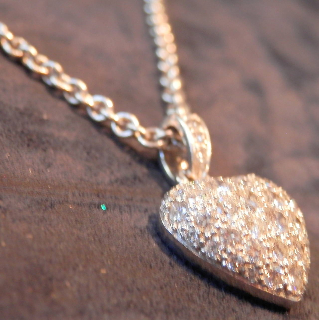 Cartier diamond platinum heart pendant at 1stdibs over 40 fine brilliant cut diamonds gvvs2 are paved set both mozeypictures Image collections
