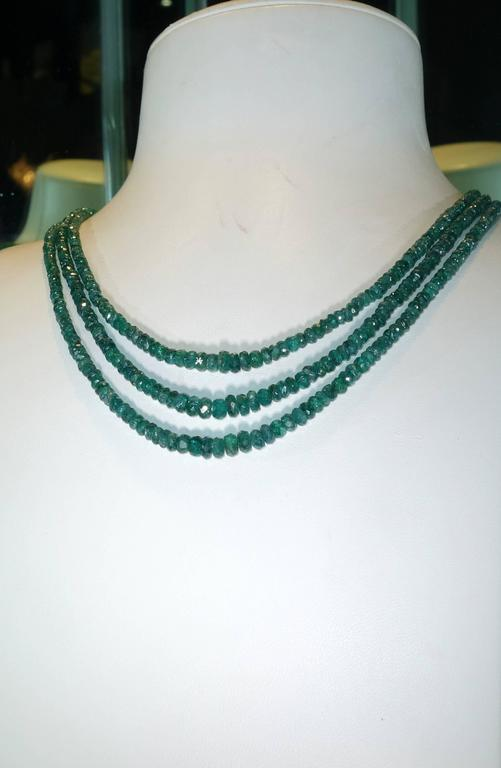 Emerald Bead Necklace 2