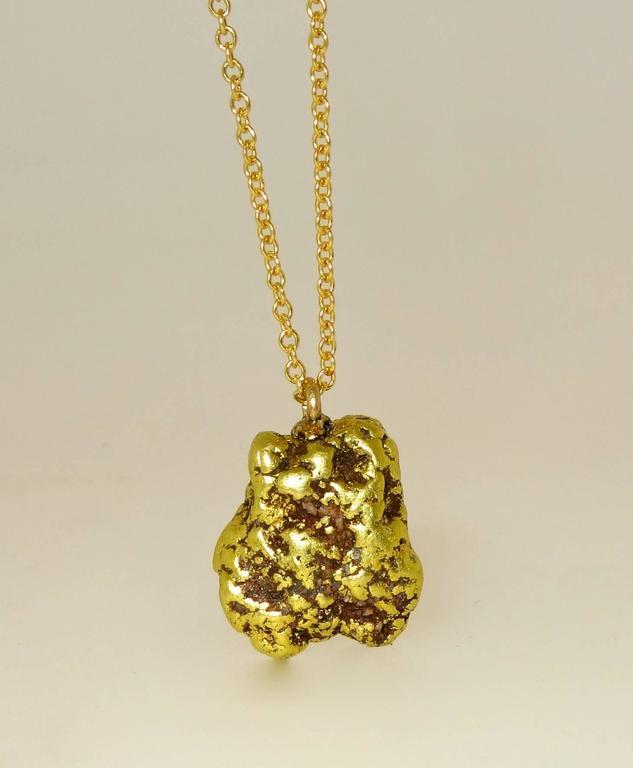 Late Victorian 19th Century Alaskan Gold Nugget Pendant For Sale
