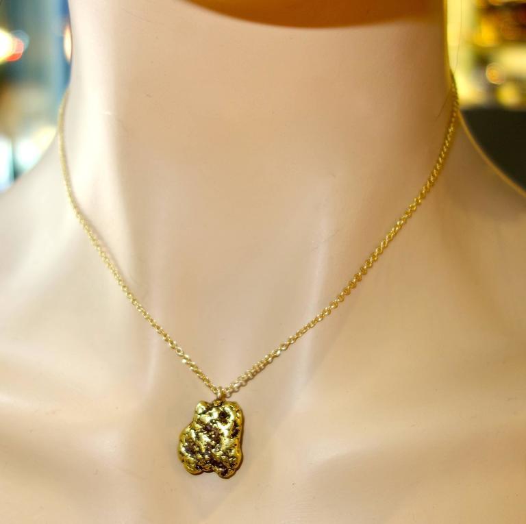 Women's or Men's 19th Century Alaskan Gold Nugget Pendant For Sale