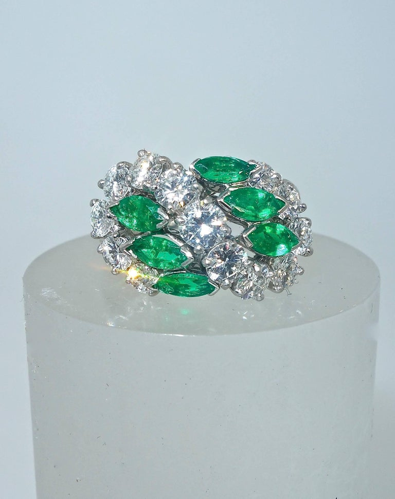 Cartier Diamond Emerald Ring In Excellent Condition For Sale In Aspen, CO