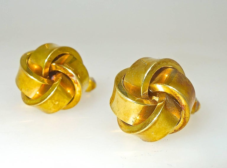 Large Love-Knot Gold Cufflinks 4