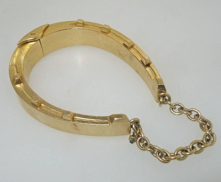 Neoclassical Antique Gold Horse-Shoe Motif Bracelet. For Sale