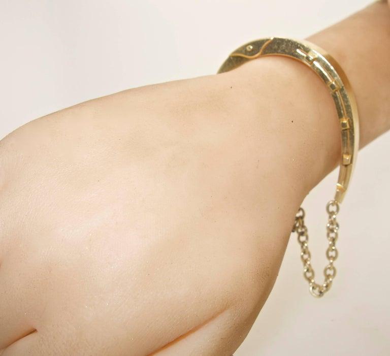 Women's or Men's Antique Gold Horse-Shoe Motif Bracelet. For Sale