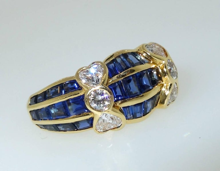 Contemporary Van Cleef & Arpels Sapphire and Diamond Ring For Sale