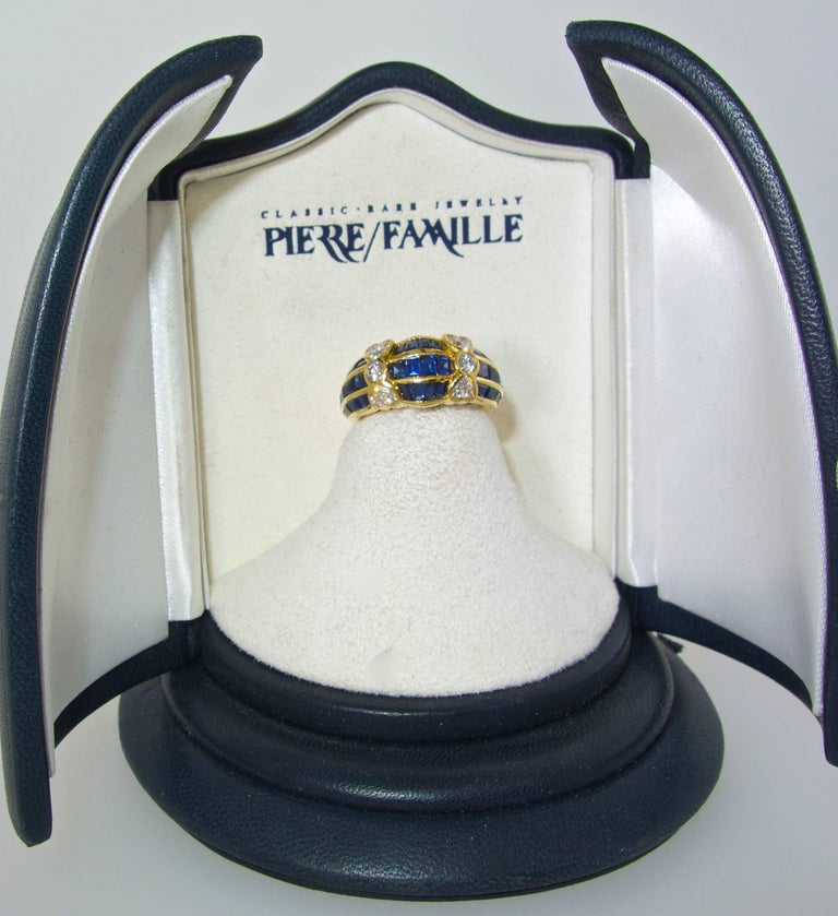 Van Cleef & Arpels Sapphire and Diamond Ring In Excellent Condition For Sale In Aspen, CO
