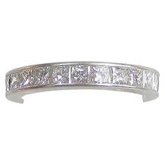 Fine Diamond Platinum Eternity Band Ring