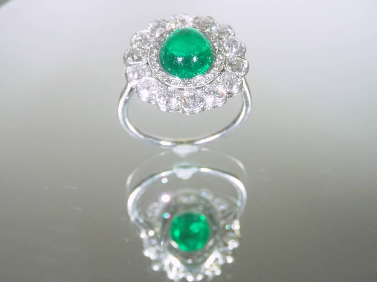 1920s emerald diamond platinum ring for sale at 1stdibs for What is platinum jewelry made of