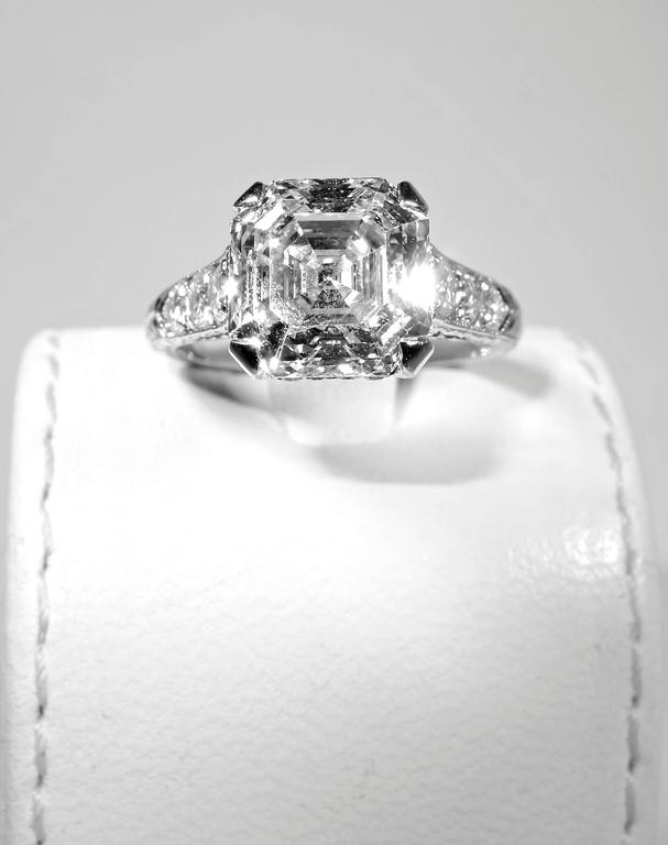 diamond asscher on cut ring roshto shapes engagement janice wiki royal