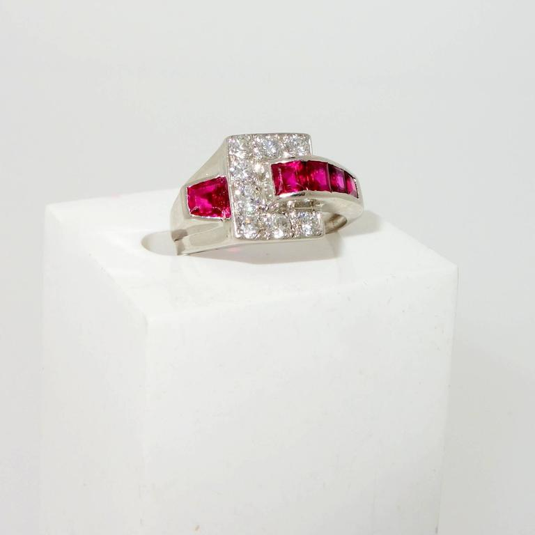 burma ruby platinum ring for sale at 1stdibs