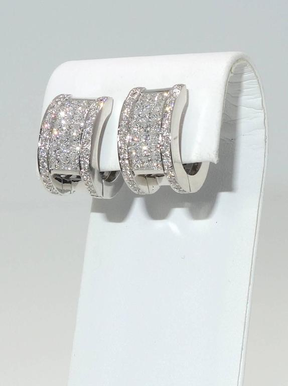 """Invisibly Set Sapphire Diamonds Gold """"Reversible"""" Earrings 4"""