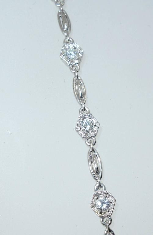 Contemporary Diamond Platinum Necklace Chain For Sale