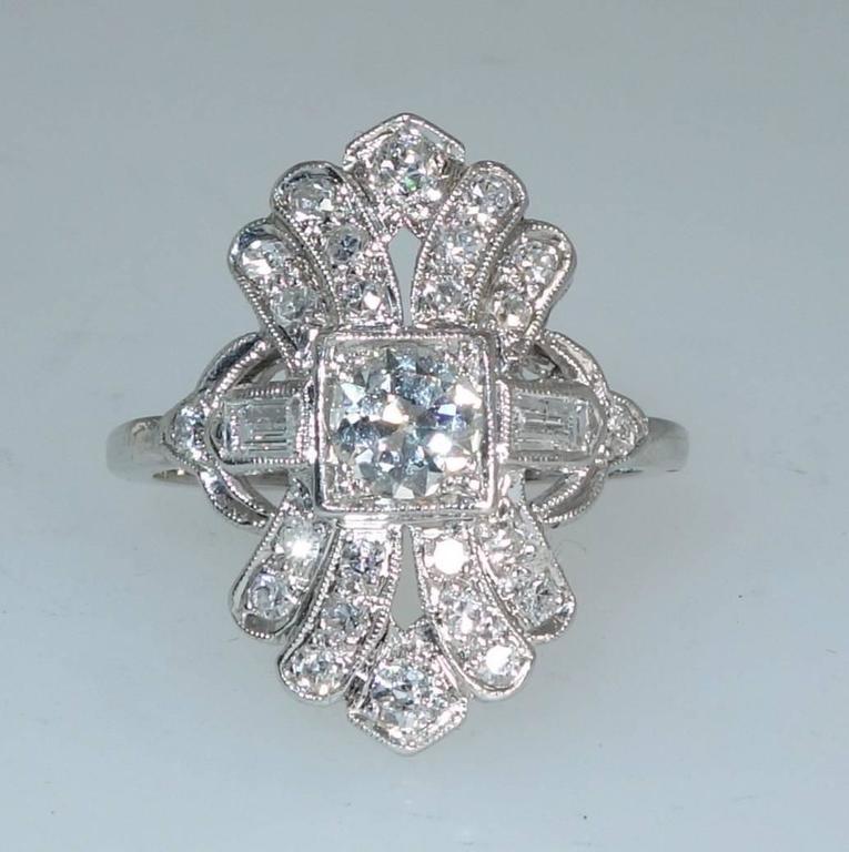 antique edwardian platinum ring at 1stdibs