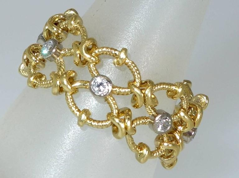 1990s Flexible Diamond Gold Ring For Sale At 1stdibs