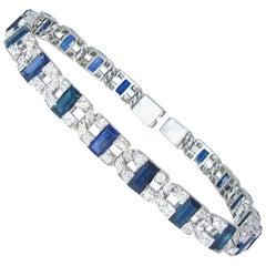 R. Yard Art Deco Sapphire and Diamond Bracelet