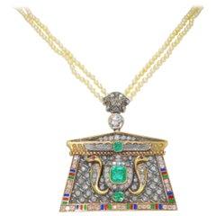 19th Century Egyptian Revival Necklace