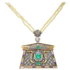 Emerald Drop Necklaces