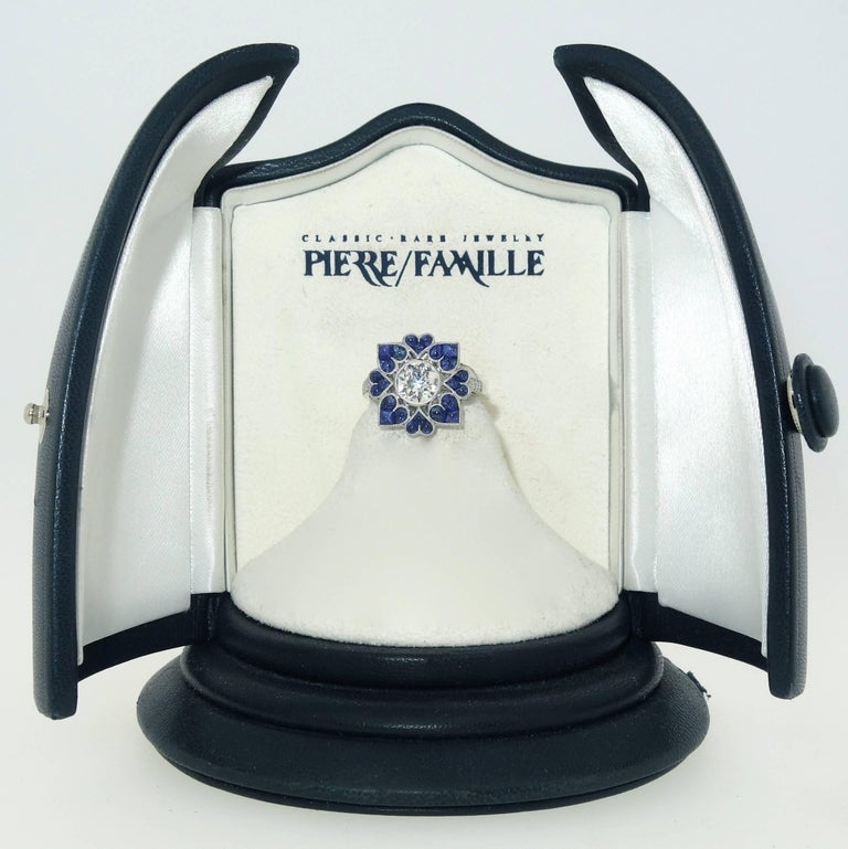 Platinum, Diamond and Sapphire Ring, Pierre/Famille 2