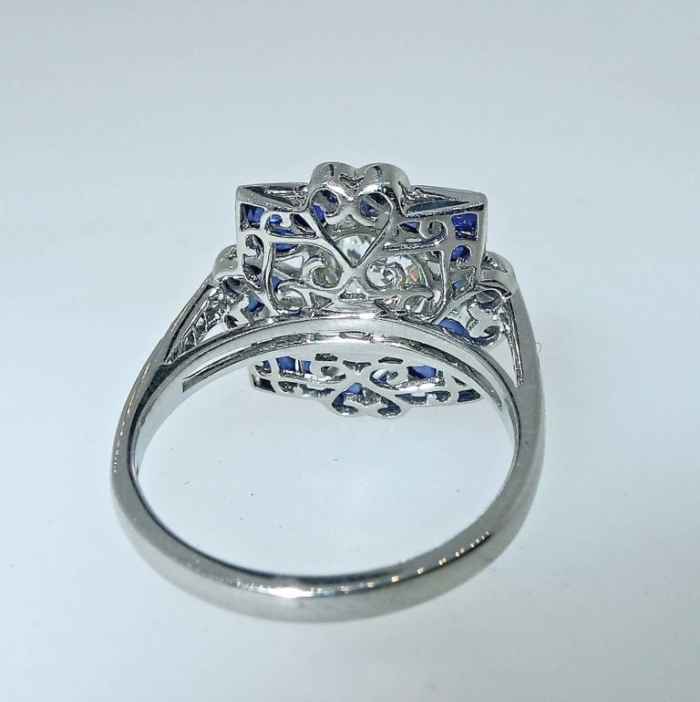 Platinum, Diamond and Sapphire Ring, Pierre/Famille 3