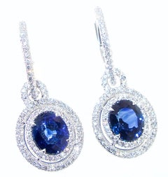 Sapphire and Diamond Earrings, Pierre/Famille