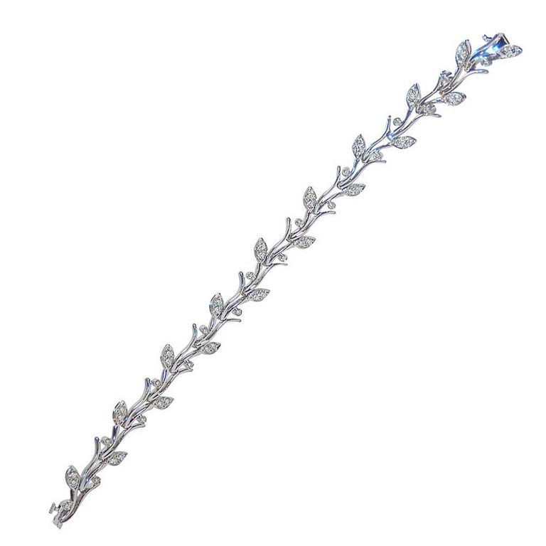 c390bcefe Diamond and Platinum Garland Bracelet by Tiffany and Co. at 1stdibs