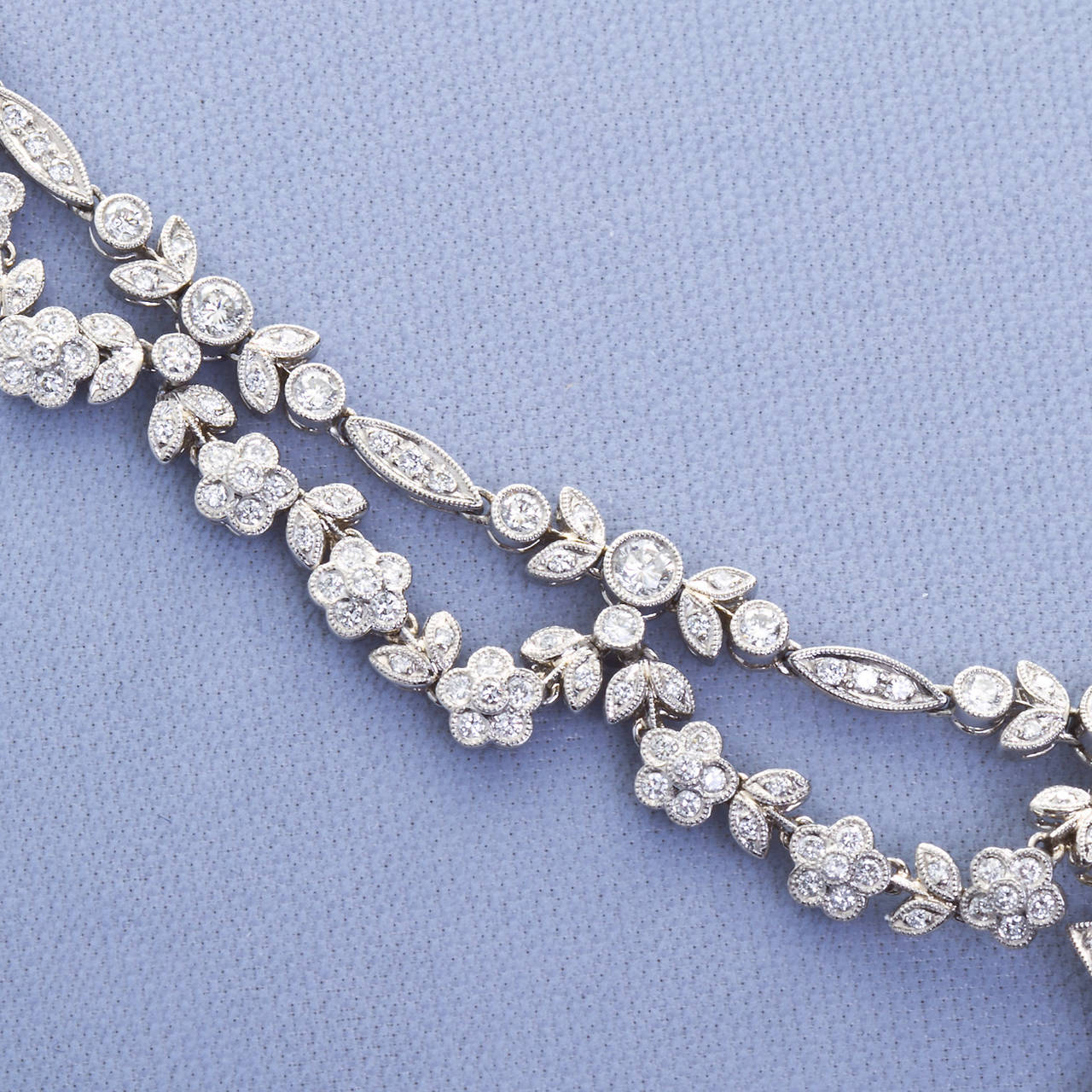 Antique 5.06 Carat Fancy Yellow Pear Shaped Diamond Drape Necklace In Good Condition For Sale In New York, NY