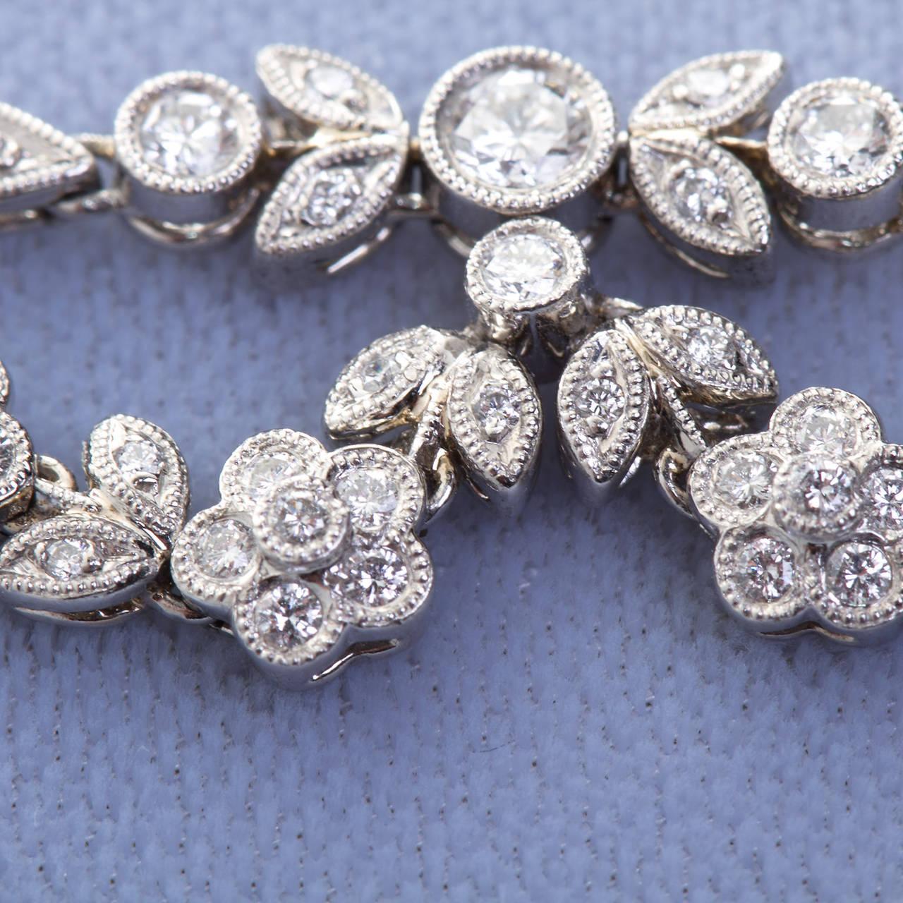 Antique 5.06 Carat Fancy Yellow Pear Shaped Diamond Drape Necklace 5