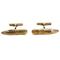 David Webb Pencil Shape Cufflinks