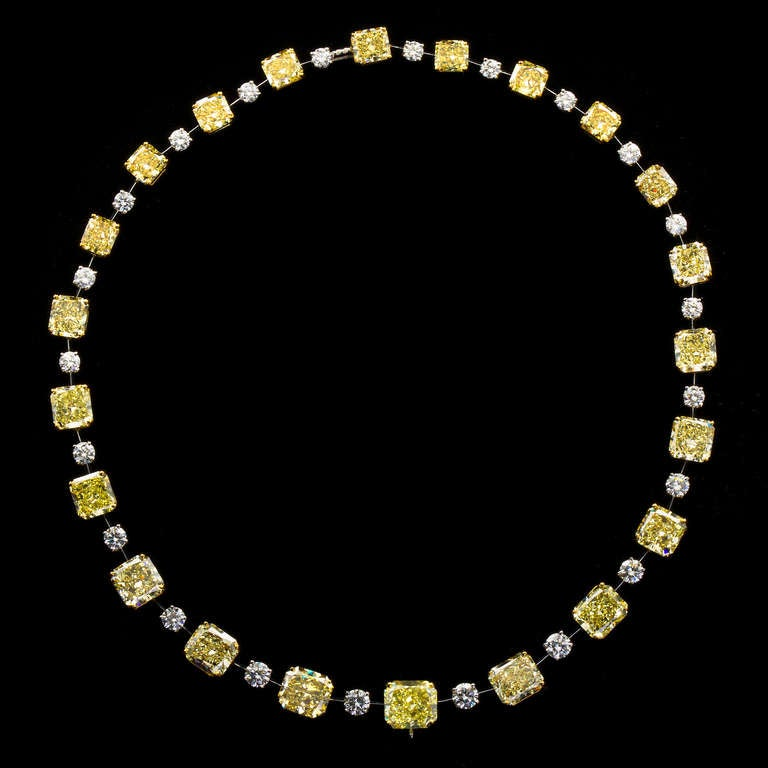 Graff london yellow diamond necklace at 1stdibs for High design jewelry nyc