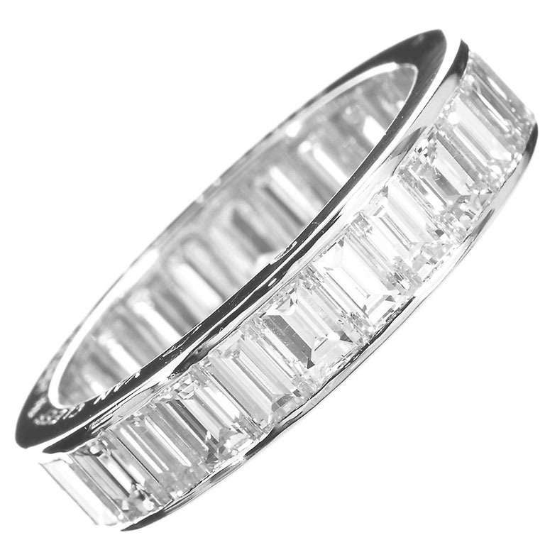 baguette diamond bands channel round wedding set band
