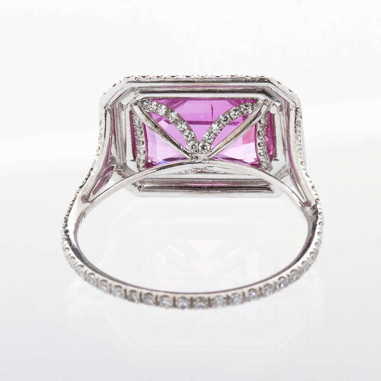 Pink Sapphire Ring Natural No-Heat For Sale 1