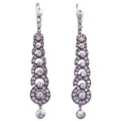 Diamond Demilune Dangle Earrings